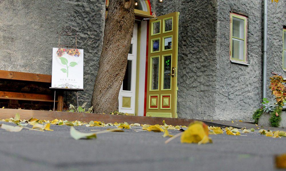 Mida teha Pärnus? Vaade õuest kohvik-restorani Hea Maa sissepääsu poole.